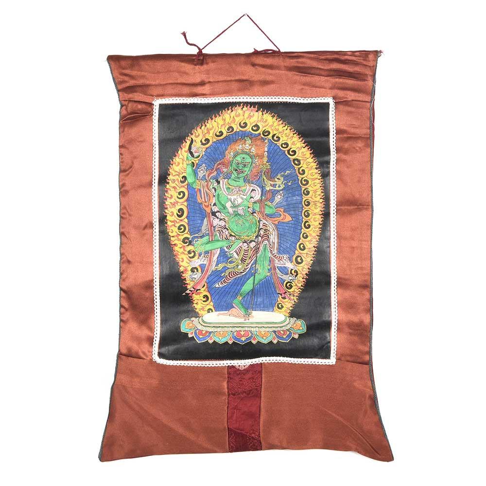 Tibetan Buddhist Thangka Painting Of Throma Nagmo