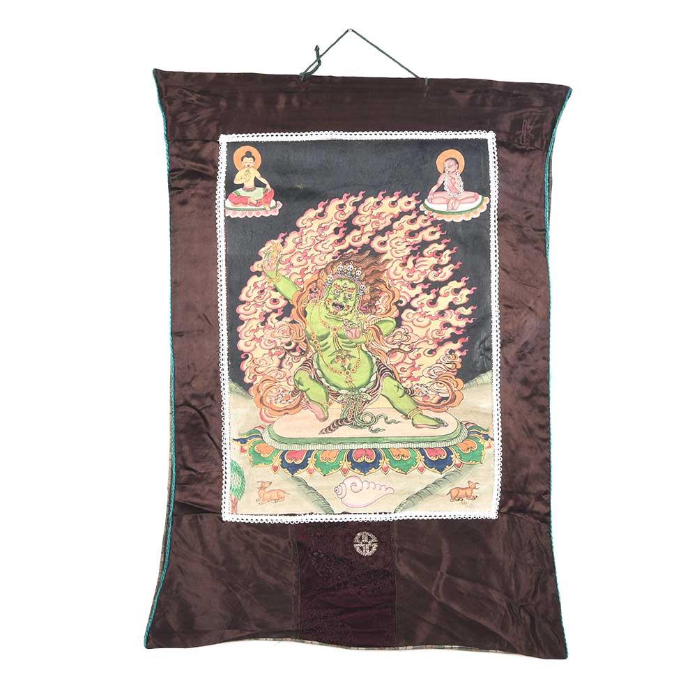 Tibetan Thangka Green Vazrapani