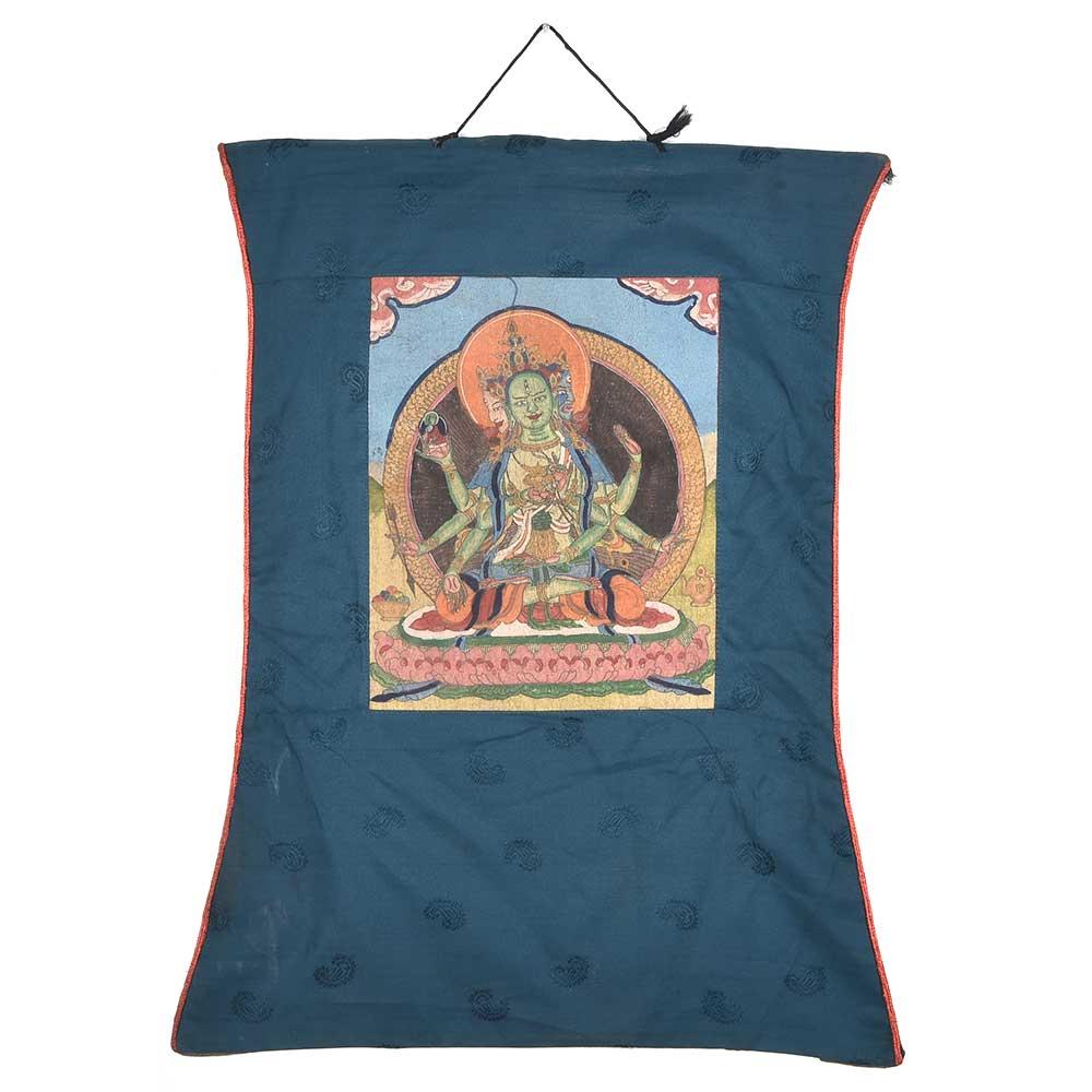 Tibetan Thanka Of Guhyasamaja Akshobhyavajra