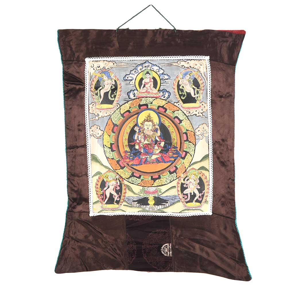 Vajrasattva The Sixth Dhyani Buddha With Consort