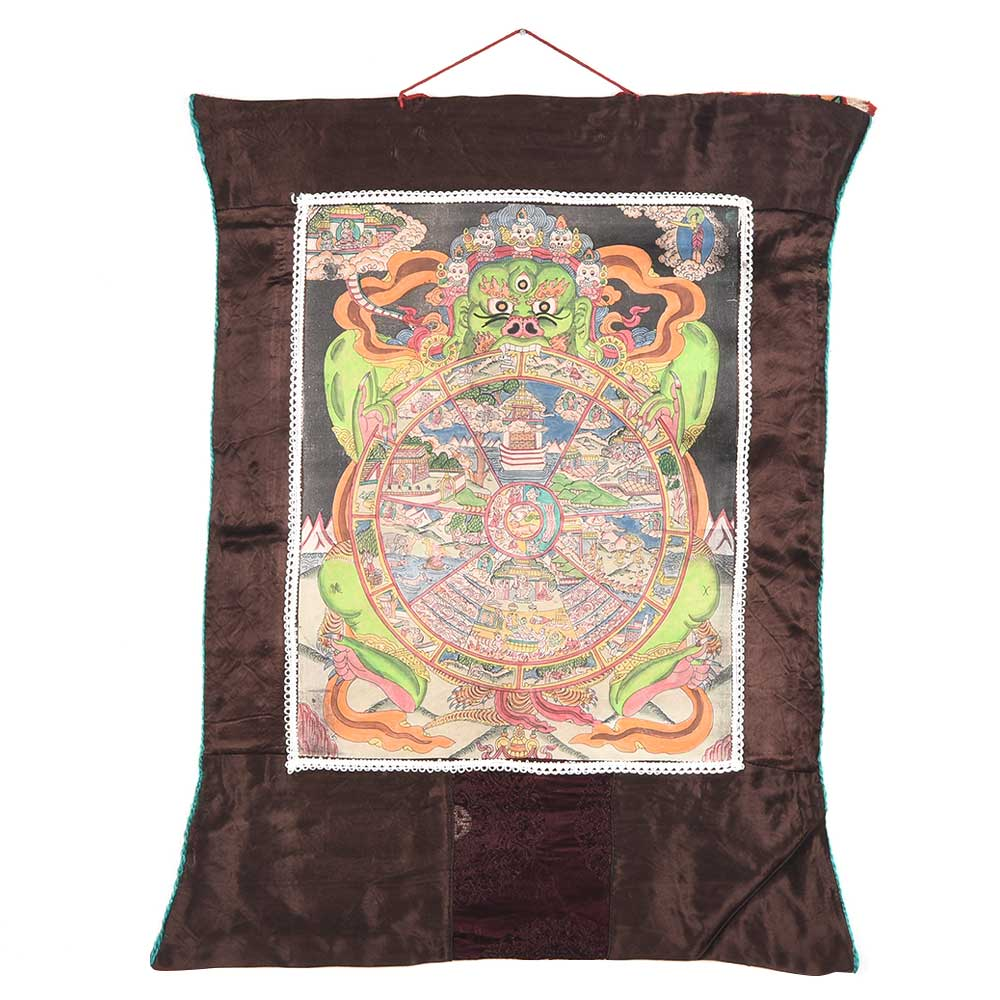 The Wheel Of Life Tibetan Thangkha Painting