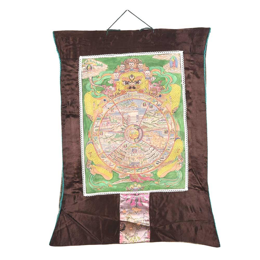 The Wheel Of Life (Tibetan Buddhist Bhavachakra)