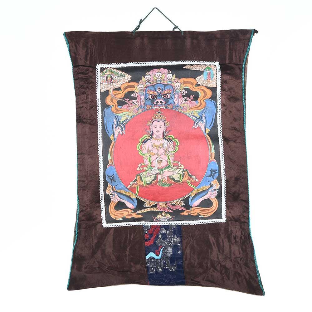 Hand Painted Tibetan Buddhism Wheel Of Life Thangka Painting