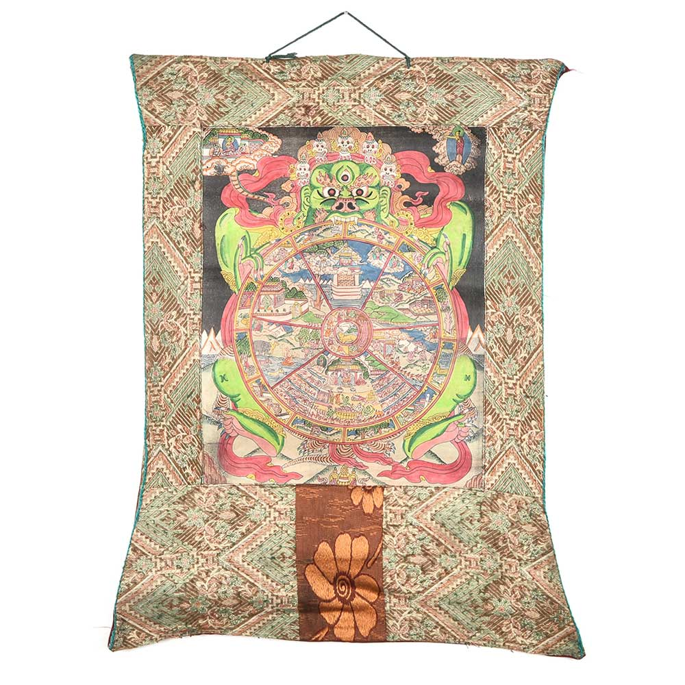 Wheel Of Life Tibetan Thangka Paintin