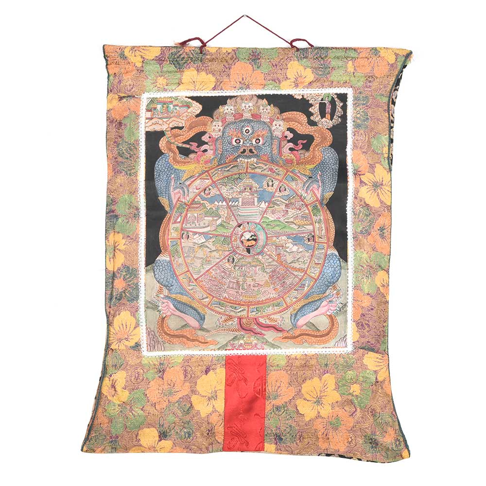 A Fine Portrait Of Manjushri With Dragon Thagkha Painting