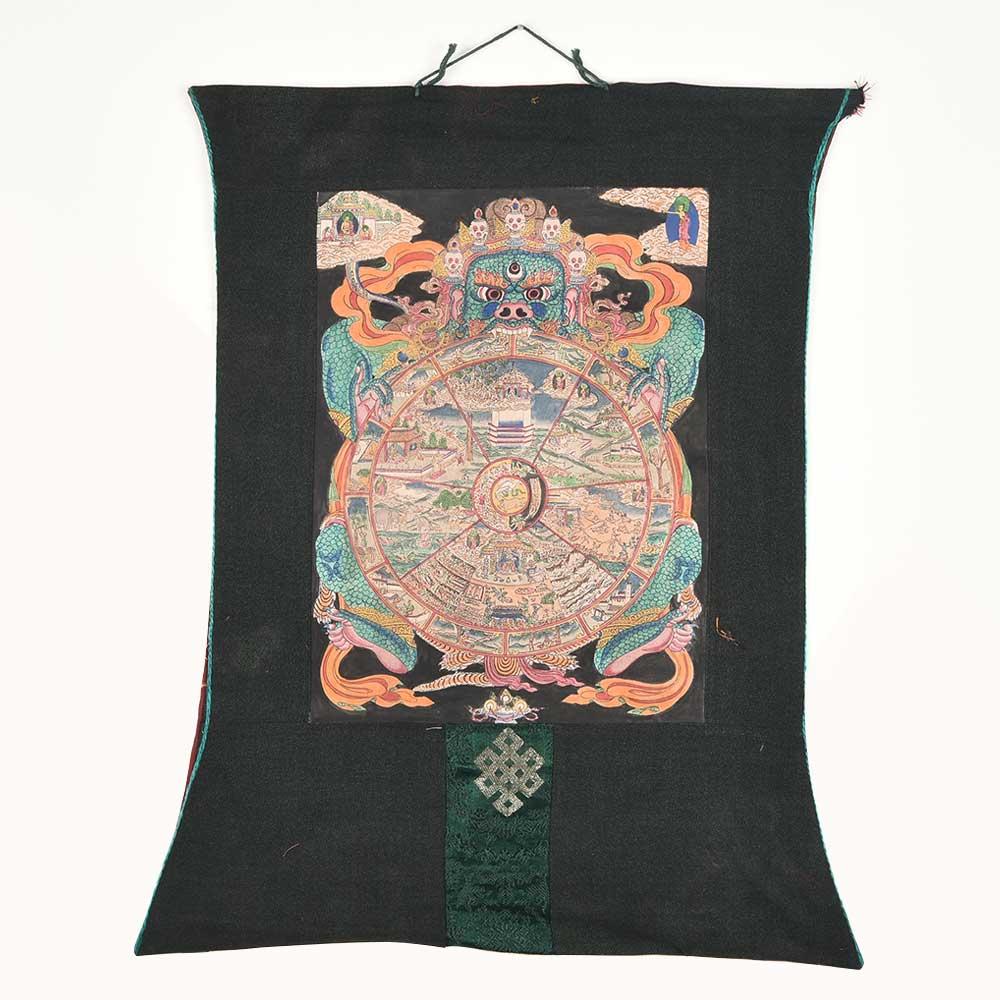 Tibetan Thangka Art Wheel Of Life Thangka