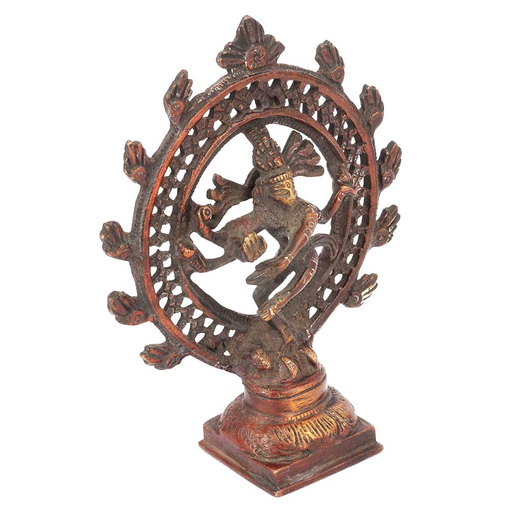 Exotic 13 Cm Nataraja Brass Statue