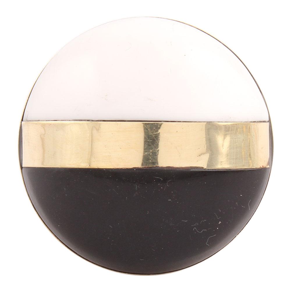 Black White Brass Resin Knobs