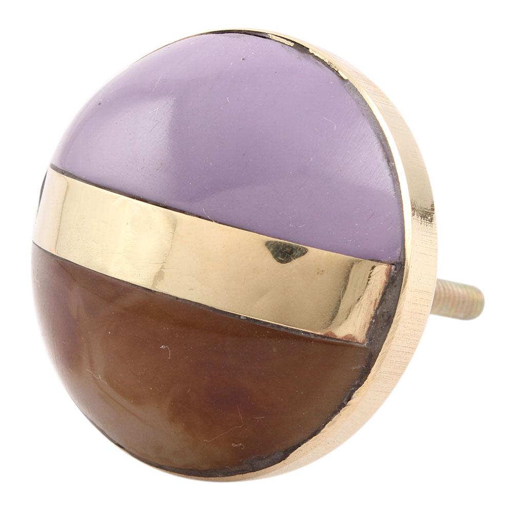 Purple Brown Brass Resin Knobs