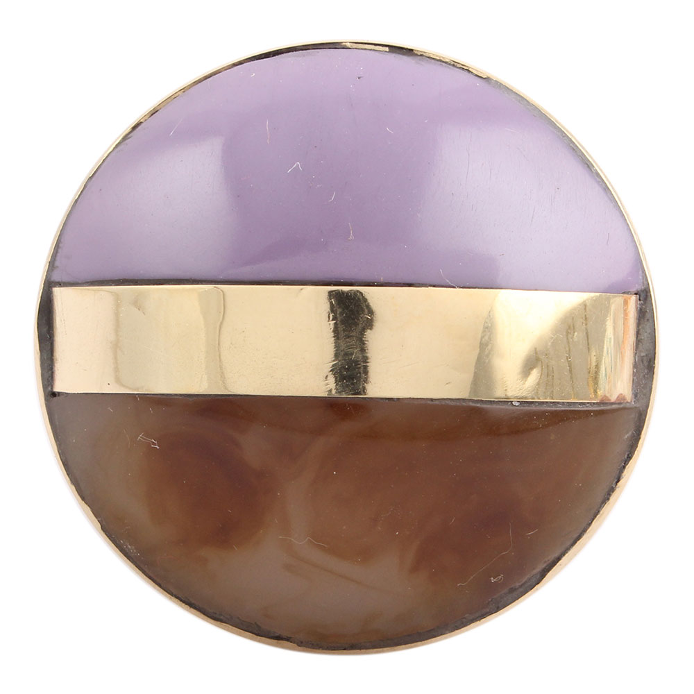 Purple Brown Brass Resin Knobs