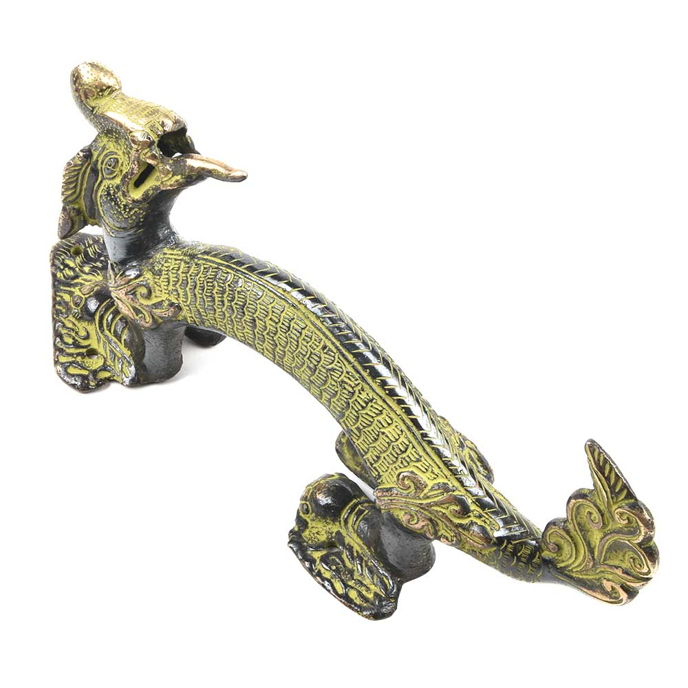 Brass Patina Dragon Door Handle