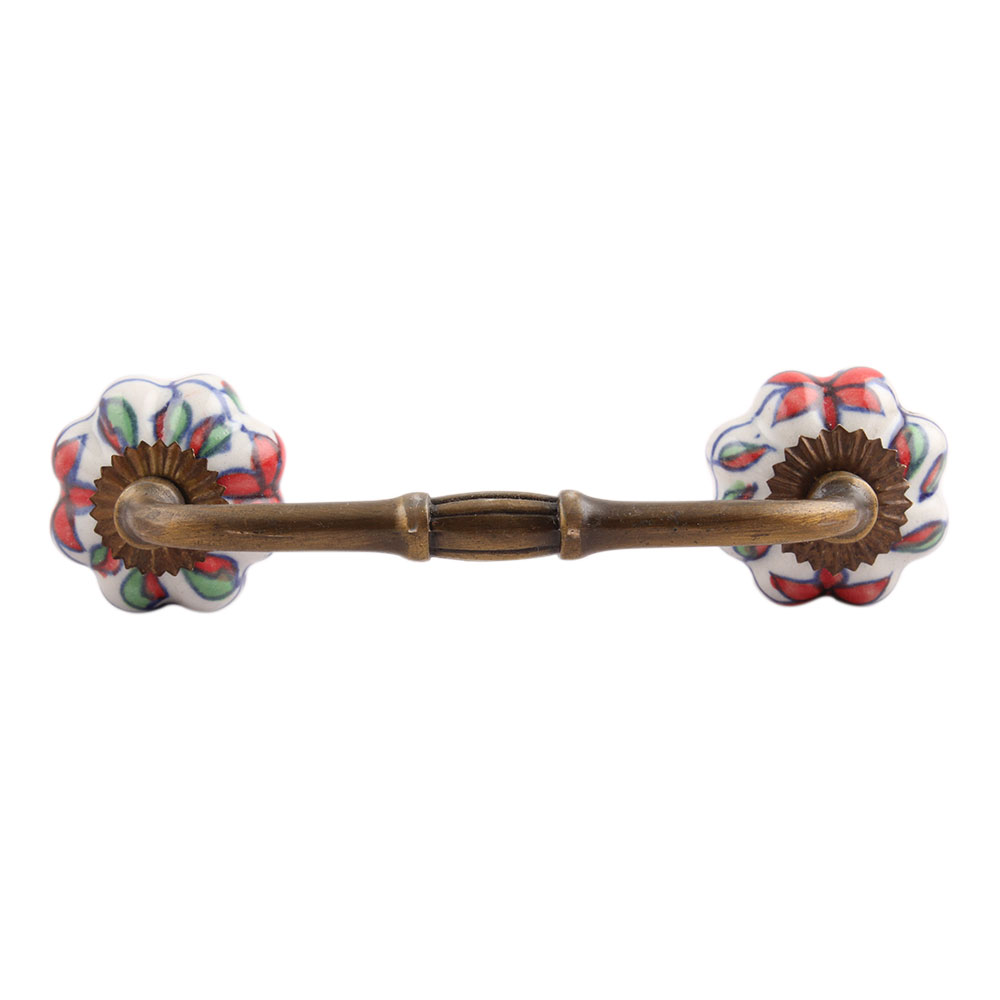 Plumeria Medium Ceramic Bridge Handle
