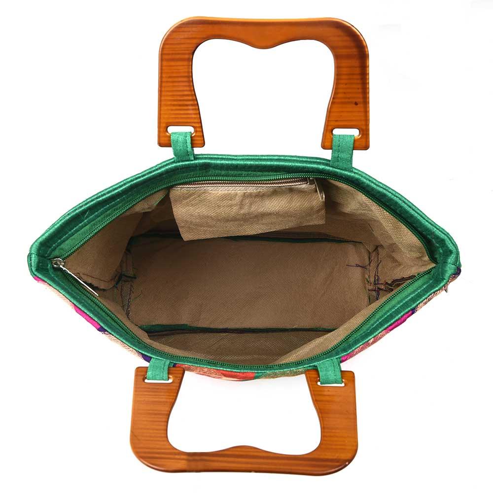 Pasley Brocade Zari Wooden Handle