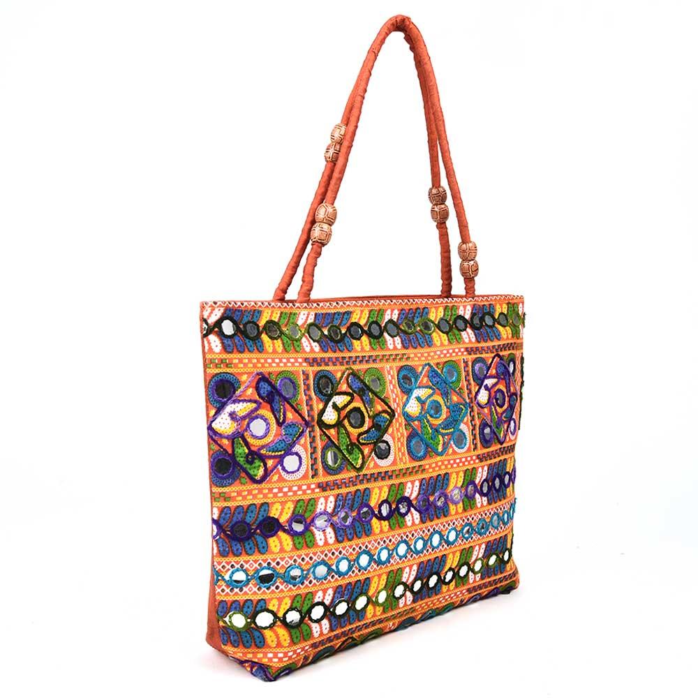 Vintage Kuchi Ahir Embroidery  Banjara  Bag