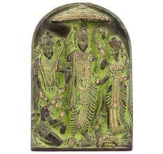 Brass Ram Darbar Idol 13 X 10 X 2 Cm