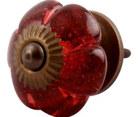 Queen Pink Melon Glass Cabinet Knob