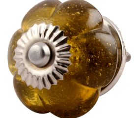 Olive Melon Glass Dresser Knob Online