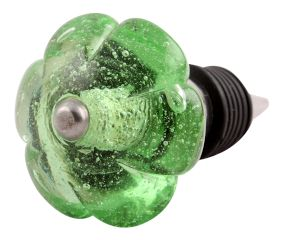 Green Melon Glass Wine Stopper