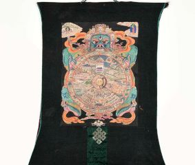 Tibetan Thangka Art Wheel Of Life Thangka
