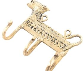 Brass Hooks with Lion Motif