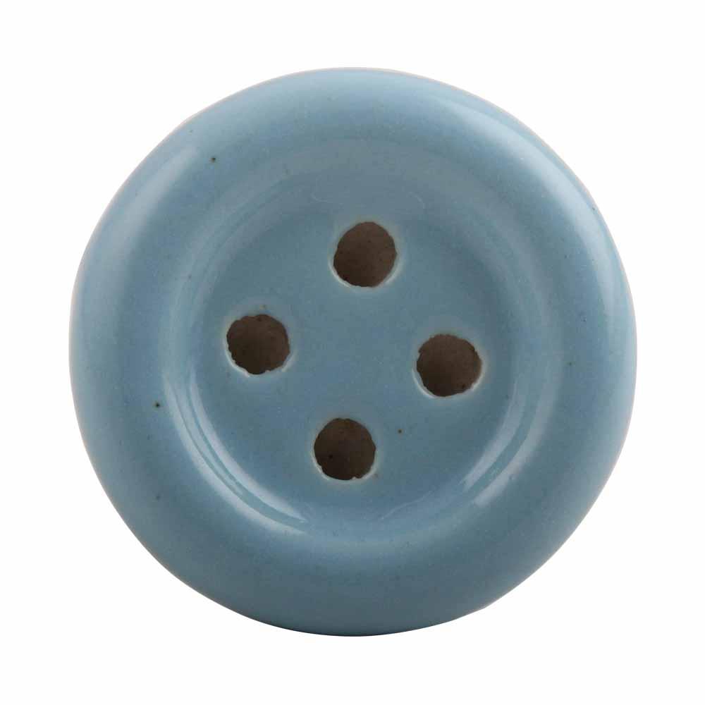Turquoise Ceramic Button Knob