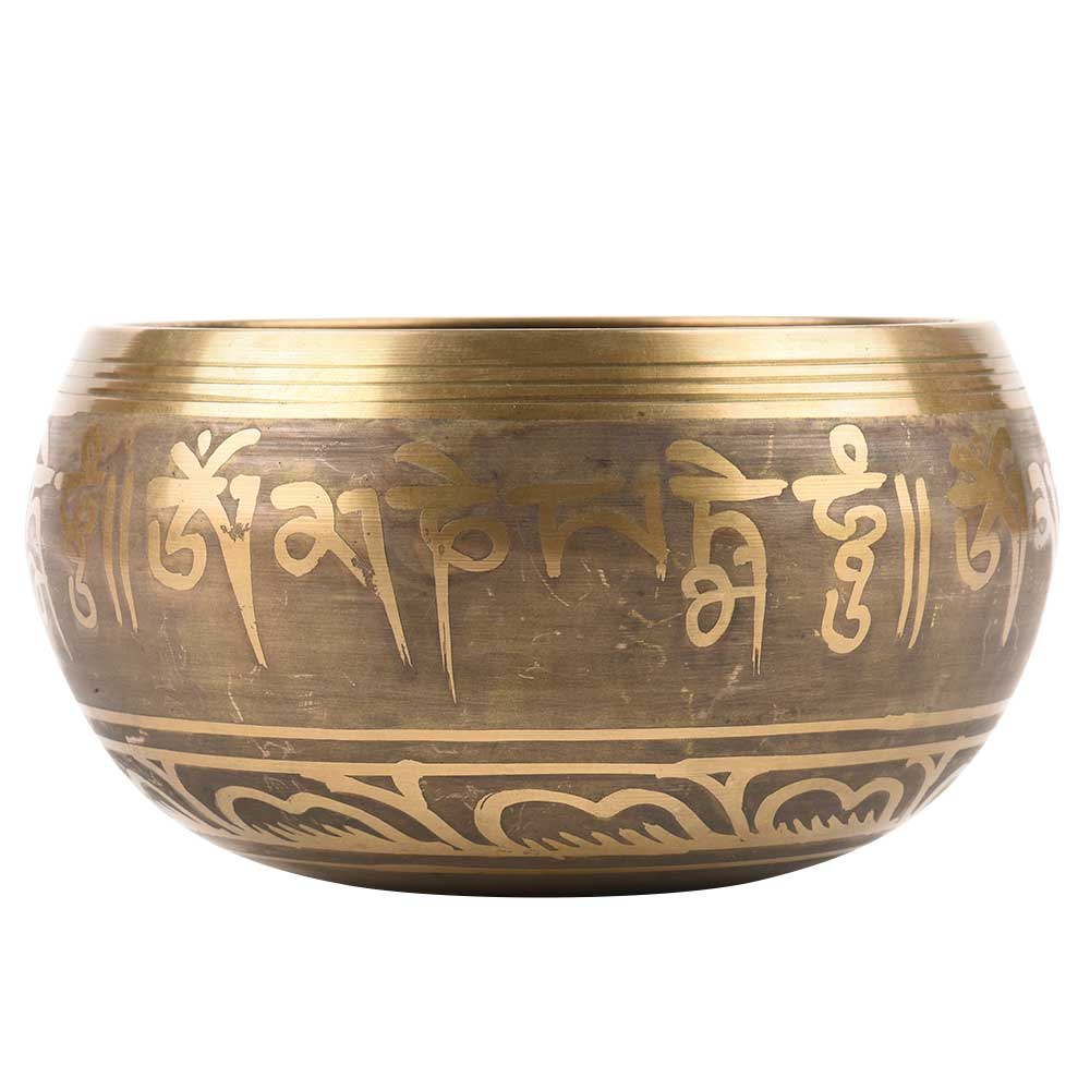 Brass Himalayan Singing Bowls  with Wooden Mallet