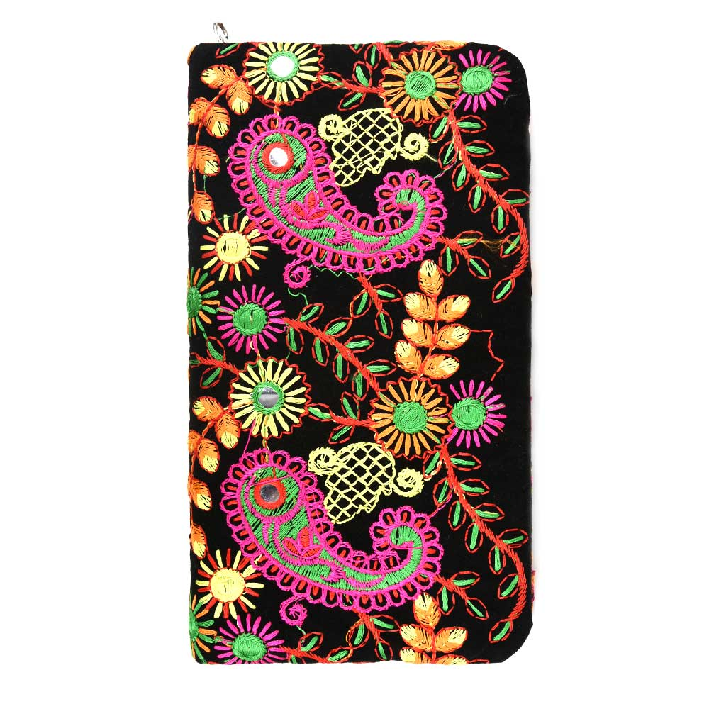 Black Box Embroidery Colorful Clutch