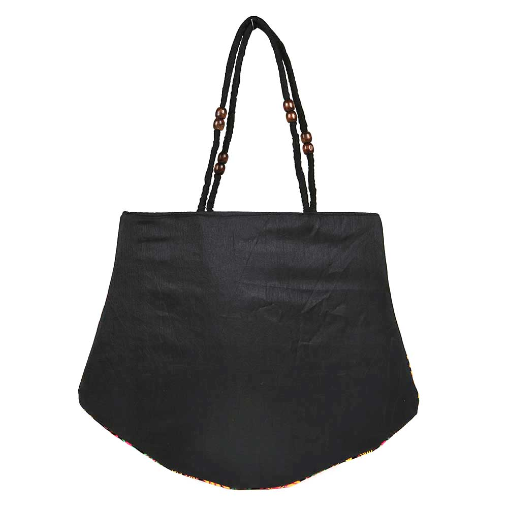Black Color Embroidery Bag