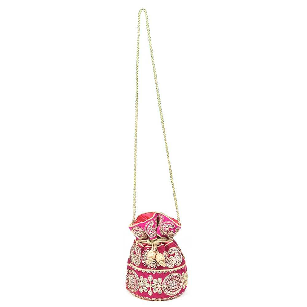 Pink  Designer Potli Bag