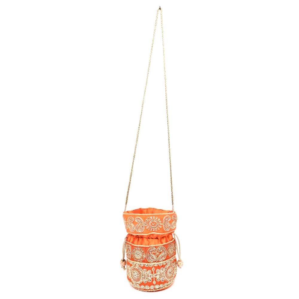 Orange Designer Potli Bag