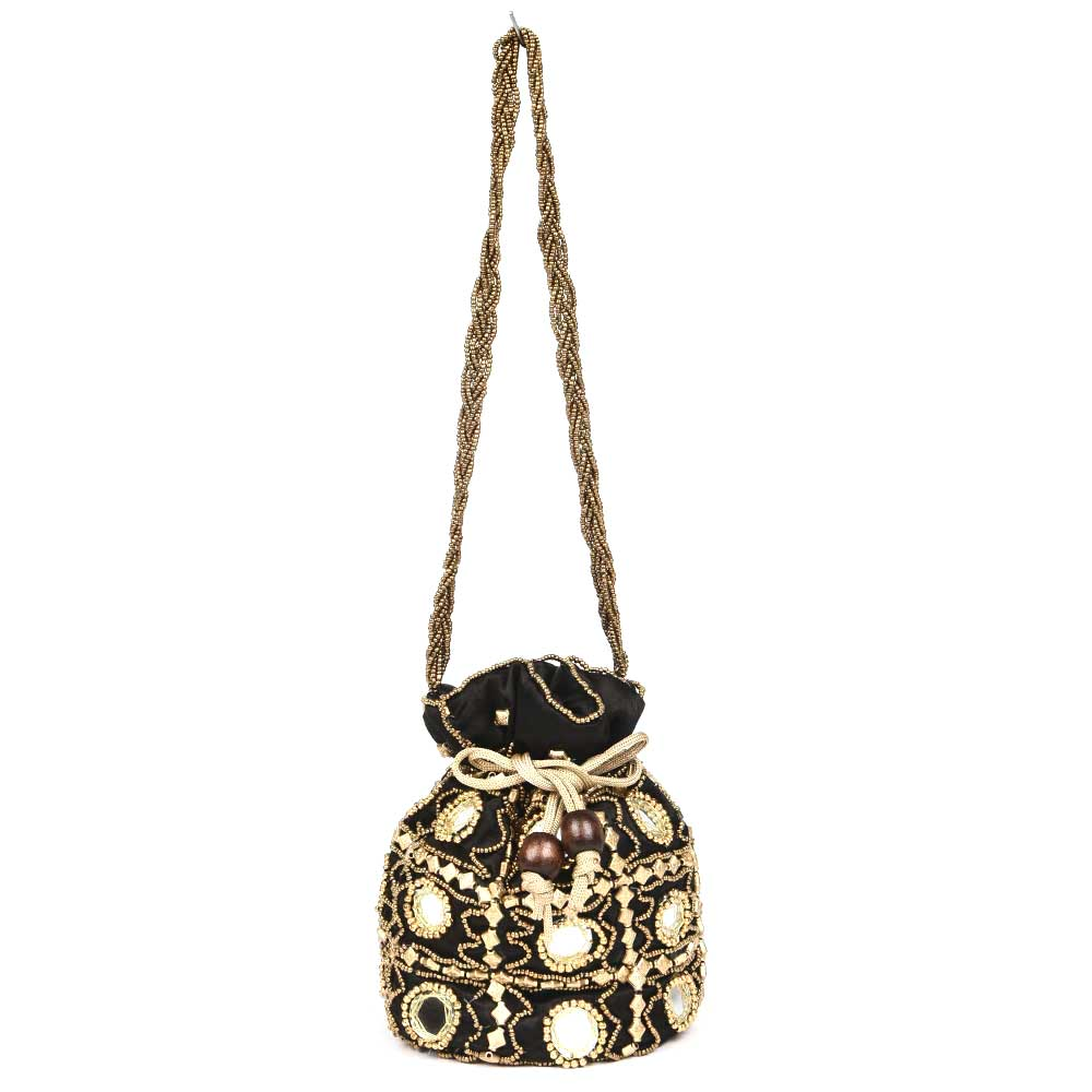 Black Mirror Work Potli Bag