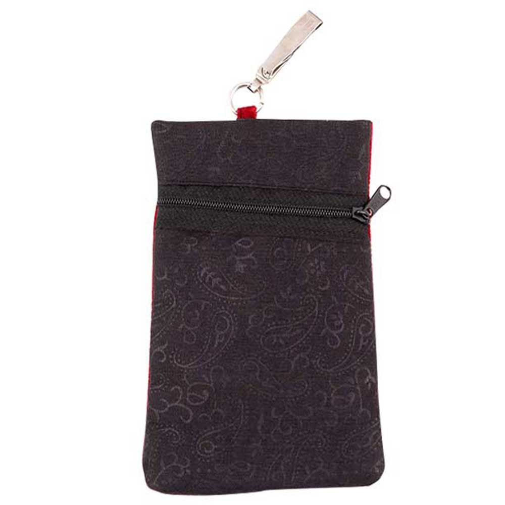 Maroon Elephant Mini Purse / Mobile Pouch For Womens Hook