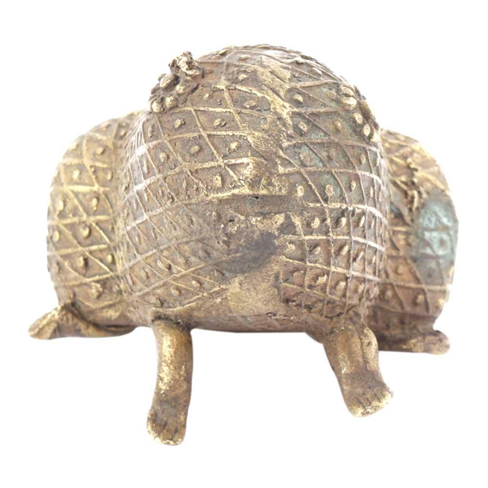 Bronze Tribal Lucky Frog Animal Ashtray