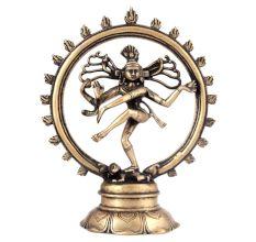 Brass Nataraj Dancing Shiva Statue