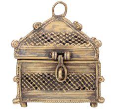 Brass Temple Dhokra Style Jewellery Box