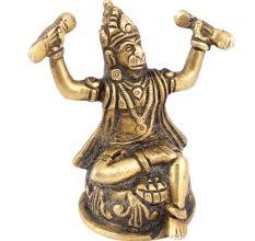 Shri Hanuman Ji Singing the Glory of Shri Rama Katha�Brass Statue
