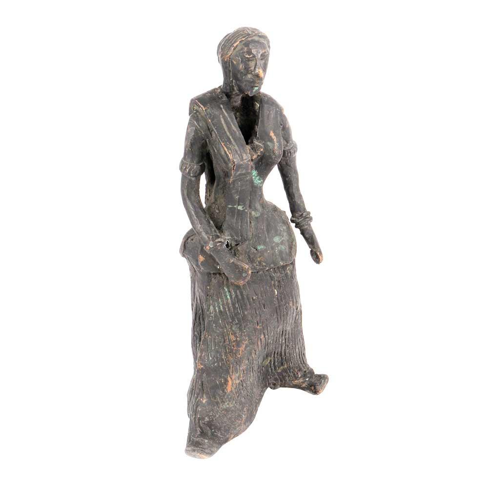 Vintage Brass Lady Statue