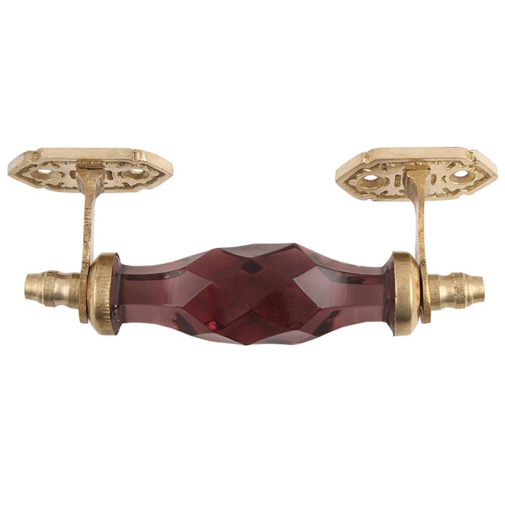 Purple Cut Glass Golden Small Door Handle
