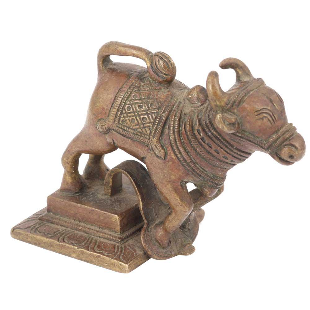 Brass Metal Standing Nandi