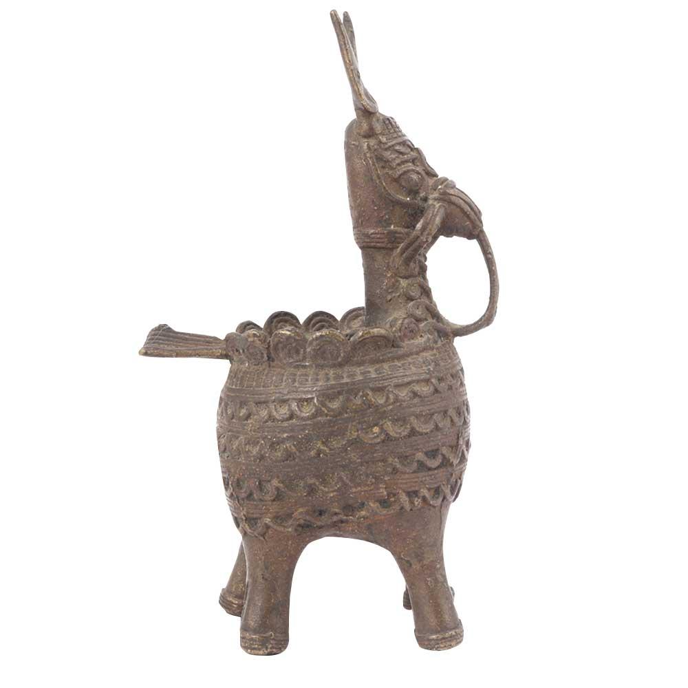 Tribal Brass Horse  Ashtray