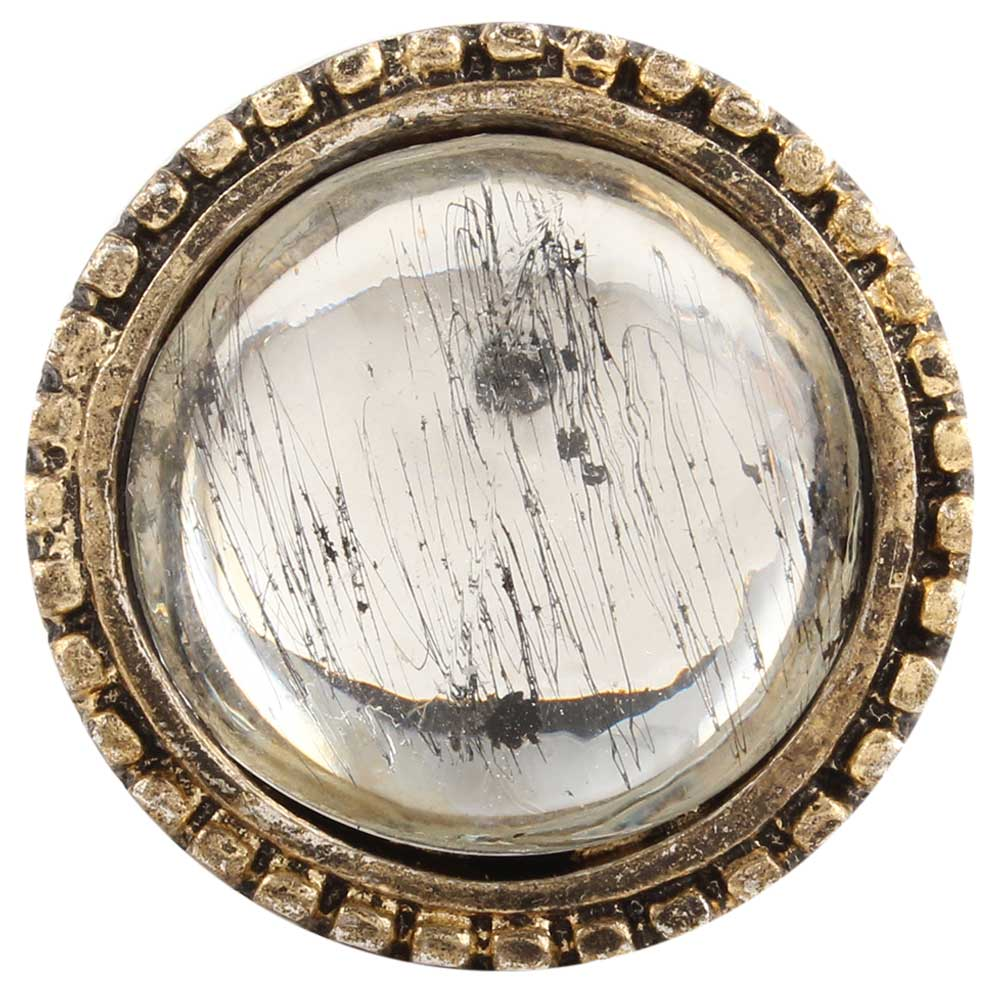 Clear Wheel Glass and Metal Cabinet Knobs Online