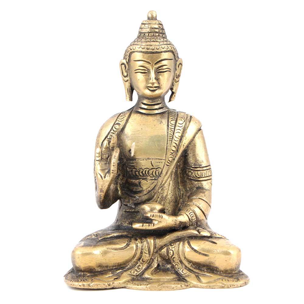 Brass Statue Seated Buddha