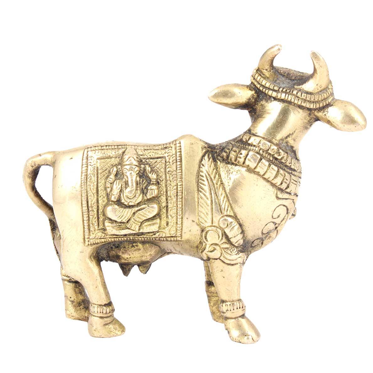 Brass Nandi Standing Statue