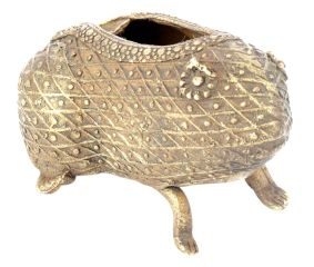 Bronze Tribal Lucky Frog Animal Ashtray