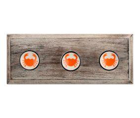 Orange Scorpion Flat Ceramic Wooden Hooks