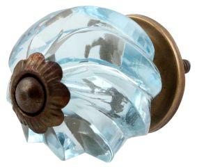 Water Interior Cut Glass Drawer Knob Online