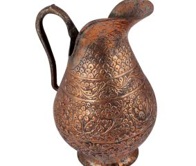 Engraved Copper Jug