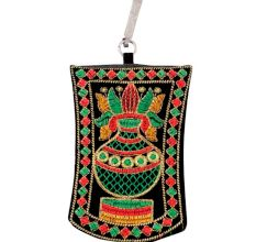 Black Kalash Mini Purse / Mobile Pouch For Womens Hook
