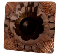 Pink Glass Square Cut Cabinet Knob Online