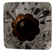 Clear Glass Square Cut Drawer Knob Online